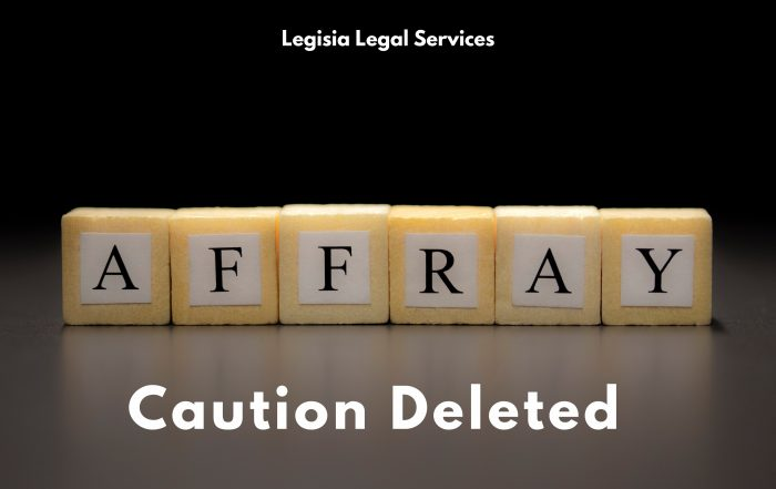 Affray Police Caution Deleted